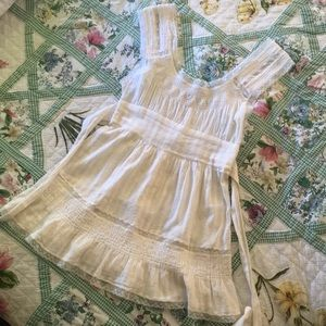 White Free People top size 4